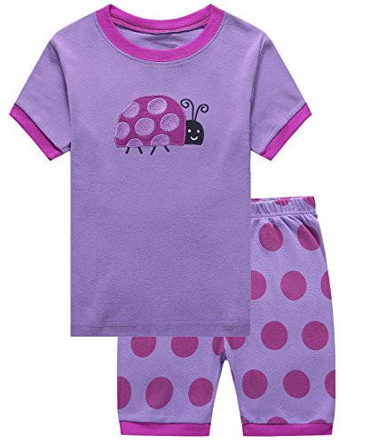 IF Pajamas Ladybug Big Girls Shorts Set Pajamas 100% Cotton Clothes Kid 8 Years