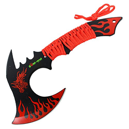 Zomb-War 11'' Red Dragon Axe Outdoor Hunting Camping Survival Steel Axe