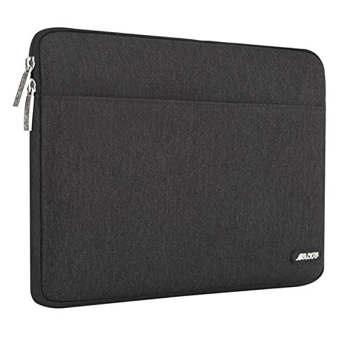 MOSISO Laptop Sleeve Bag Compatible 13-13.3 Inch MacBook Pro, MacBook Air, Notebook Computer, Spill Resistant Polyester Horizontal Protective Carrying Case Cover, Black by MOSISO