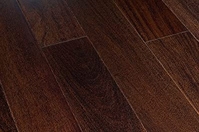 "18.91SF AMERIQUE Prefinished Solid Exotic Walnut Natural Hardwood Flooring 4-3/4"" X 3/4"" X RL(1FT~6FT), Premium Grade, 18.91sf/ctn (One Carton)"