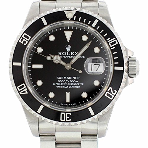 Pre Owned Rolex - Rolex Submariner Automatic-self-Wind Male Watch 16610 (Certified Pre-Owned)