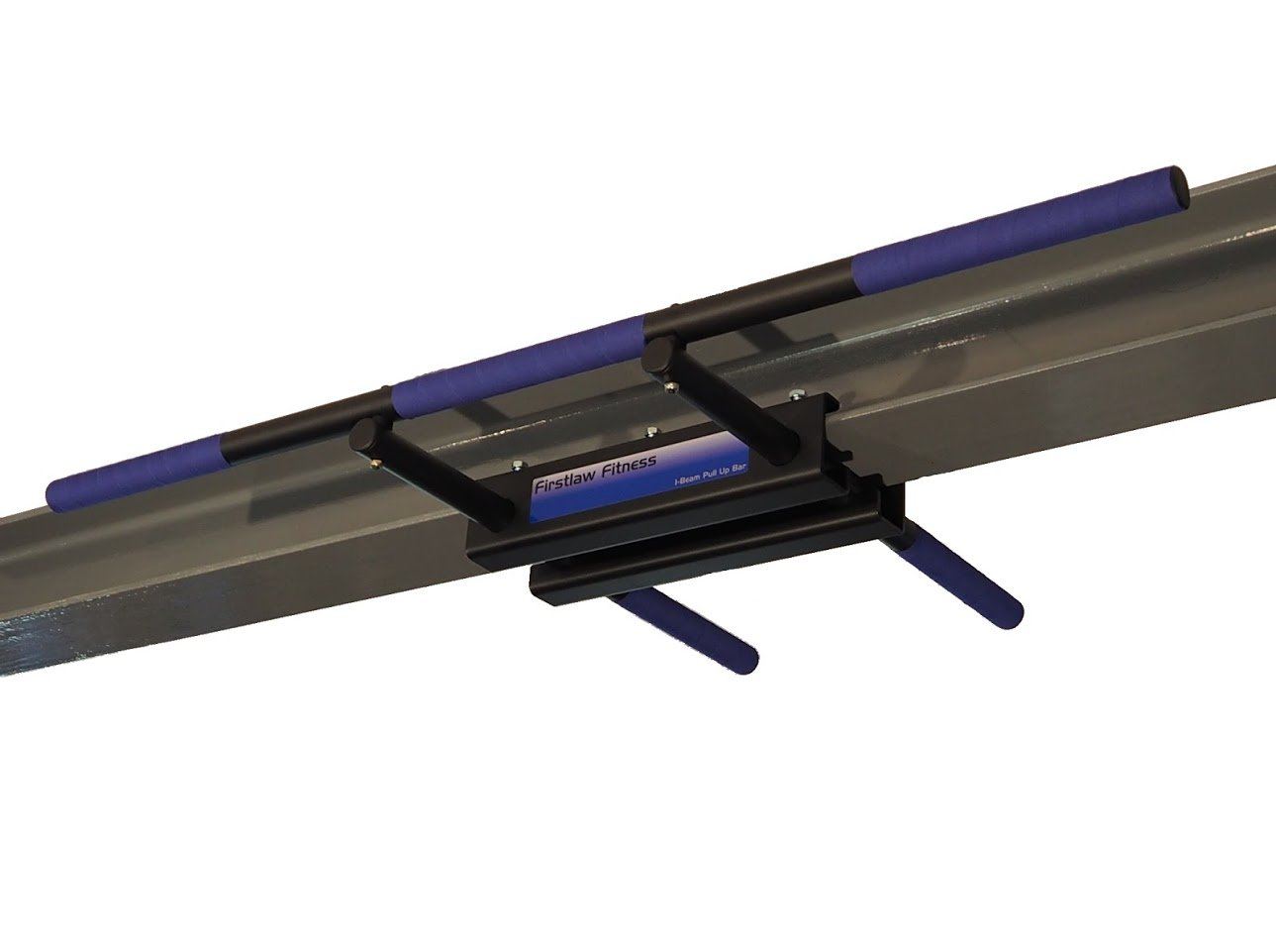 Firstlaw Fitness - 600 LBS Weight Limit - I-Beam Pull Up Bar - Straight Long Bar (Blue) Grip Tape - Made in The USA!