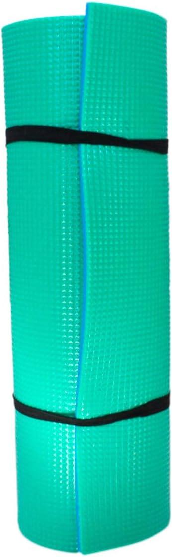 Grupo K-2 Wonduu Esterilla Yoga Anti-Deslizante Azul Y Verde Colchoneta 77x162 Cm