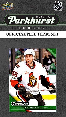 Logan Stone (Ottawa Senators 2017 2018 Upper Deck PARKHURST Series Factory Sealed Team Set including Erik Karlsson, Dion Phaneuf, Logan Brown Rookie Card Plus)