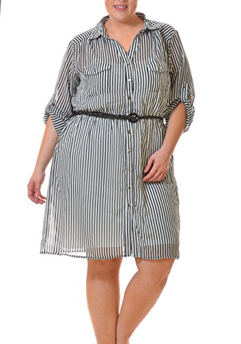 Buy belted dress with pockets - 8
