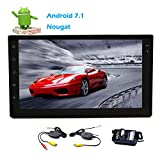 EinCar New Android 7.1 Nougat Car Stereo System Double 2 Din Bluetooth Dual Cam-in Car FM/AM Radio Receiver Full Touchscreen Tablet Style Dispaly Wifi Web Browsing App Video Music Wireless Rear Cam
