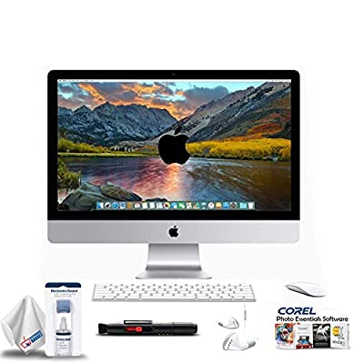 Apple iMac 27-Inch Retina 5K Desktop Renewed (3.2 GHz Intel Core i5, 8GB RAM, 1TB Fusion) MK472LL/A - with 2 Year Extended Warranty + Ear Buds, Corel Software