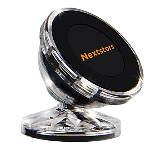 Car Phone Holder & Truck Bracket Magnetic Smartphone Car Mount, GPS Holder - Adjustable 360 Degree Rotation on Dashboard Universal Car Mount - Compatible with All Smartphones