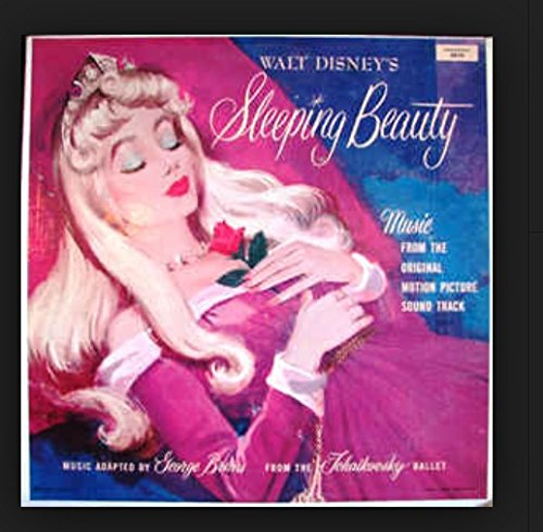 WALT DISNEY'S SLEEPING BEAUTY - vinyl lp. HAIL TO THE PRINCESS AURORA - THE GIFTS OF BEAUTY AND SONG MALEFICENT APPEARS TRUE LOVE CONQUERS ALL - BLUE BIRD--I WONDER, ETC.ETC.- -