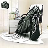 Digital Printing Blanket Futuristic Custom High Technology Unique Graphic Art Black Summer Quilt Comforter