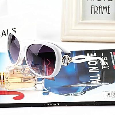 LXKMTYJ Lunettes de conduite sauvage moderne personnalité yeux visage rond Rétro lunettes noires, blanc