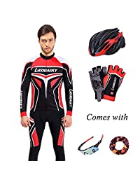 fccaaff9b EoCot Riding Clothes Long Sleeves Set Men and Women Sweat Breathable  Bicycle Cycling Clothes