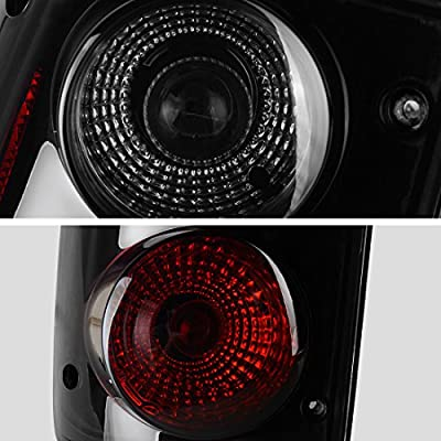 DWVO Taillight Tail Lamps Compatible with Toyota Pickup Truck 1989 1990 1991 1992 1993 1994 1995 Rear Tail Lights Black Smoke DWTL004W: Automotive