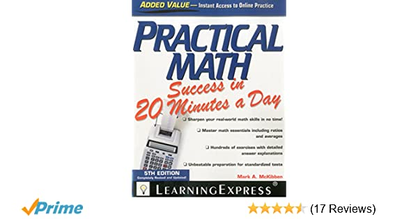 Amazon practical math success in 20 minutes a day amazon practical math success in 20 minutes a day 9781576858912 learningexpress llc editors books fandeluxe Image collections