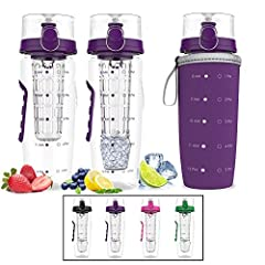 """HOW OFTEN HAVE YOU SAID """"I DON'T DRINK ENOUGH WATER, BUT I WANT TO""""?  What better way to refuel and stay hydrated than with fresh fruit. The Bevgo Fruit Infuser Water Bottle is the original and best made infuser on the market. It's perfect fo..."""