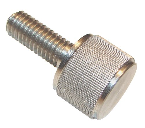 300 Series Stainless Steel Thumb Screw, Plain Finish, Knurled Head, Oversized Head, 1