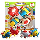Toys : 3 Bees & Me Airplane Toys for Toddlers - Set of 4 Toy Airplanes for Boys and Girls - Fun Travel Toys