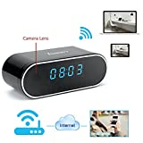 Toughsty™ 8GB 1280x720P HD Wifi Network Camera Clock Video Recorder Indoor Motion Activated DV Camcorder Support IOS Android Smartphone APP Remote View 120 Degree Wide View