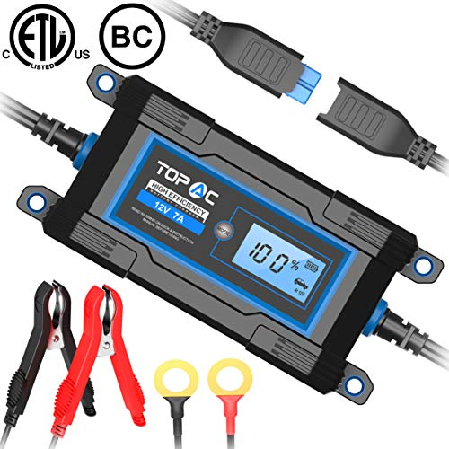 TOPAC 3.5/7A 6/12 Volt Automatic Car Battery Charger for Automotive
