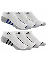 Adidas Men's 6-pair Low Cut Sock with Climalite White Extended Size 12-16 (Extended, White)