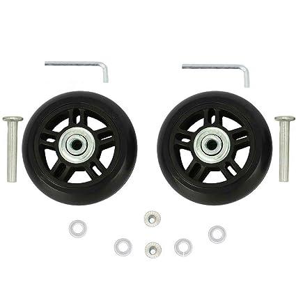 ORO 1 par de ruedas de repuesto para equipaje 70 x 22 mm (2.76 x 0.87 ...