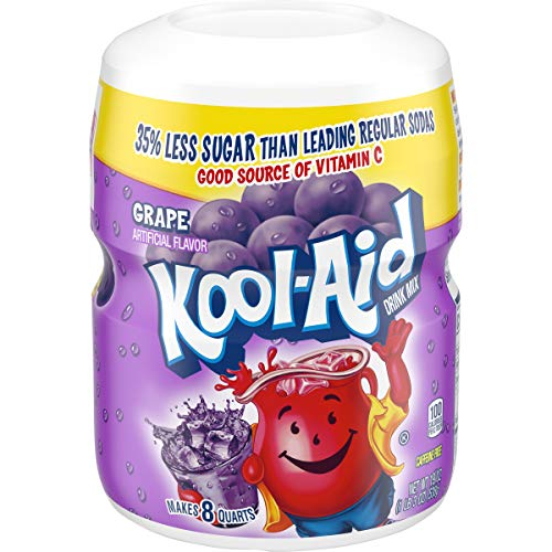 Kool Aid Grape Drink Mix (19 oz Canister, Pack of 12)