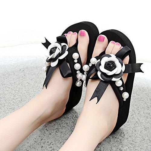 taille de Femmes Mode Pour B chaussures 5CM Mignons pour CN37 femmes EU37 2 HAIZHEN femmes COULEURS A 4 5 Femmes Couleur d'été Chaussons UK4 8TwXYp