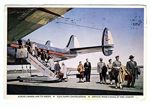 Trans Canada Airlines Super Constellation Postcard 1950's (Canada Tca Airlines Trans)
