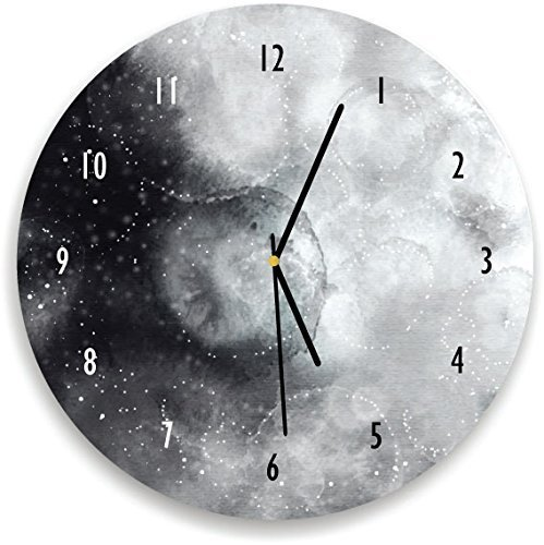 Kid O Design Studiokid O Design Studio Watercolor Moon Wall Clock Decorative Home Office Room Clock Celestial Wall Decor Battery Operated Wall Clocks 10 62 Inches Black And White Dailymail