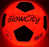 GlowCity Light Up LED Soccer Ball Blazing Red Edition