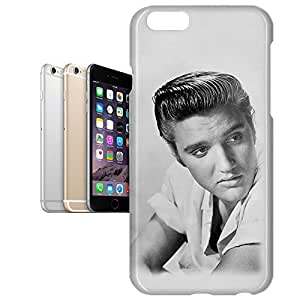 Phone Case For Apple iPhone 6 Plus - Elvis Presley Black White Portrait Protective Lightweight
