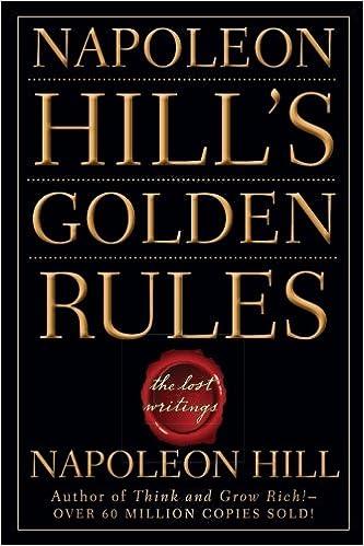 NAPOLEON HILL'S GOLDEN RULES: Napoleon Hill: 9780470411568: Amazon ...