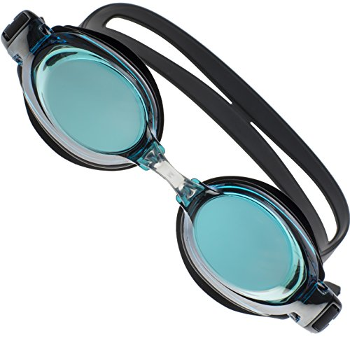 JNW Direct Premium Comfort Swim Goggles for Men, Women & Kids, Best Anti Fog + UV Protection, Waterproof and No Leak Adult Swimming Goggle Set, Includes BONUS Case and 3 - Best Protection Uv