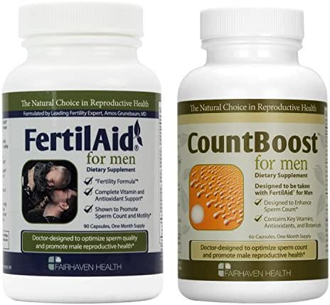 FertilAid for Men and Countboost Combo (1 Month Supply)