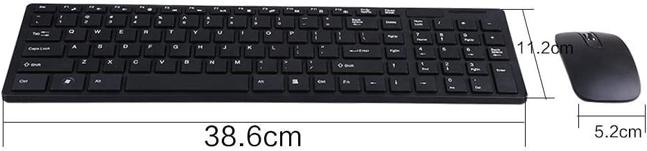Wireless Keyboard and Mouse Combo,Fashionable Ultra Thin 2.4G Optical Wireless Keyboard and Mouse Mice USB Receiver Combo Kit for PC Computer