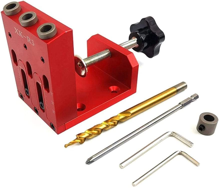 Woodworking Inclined Hole Locator Hole Drilling Guide Kit for Drilling Inclined Hole-Blue Blue