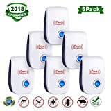 2018 Upgraded,6 Pack Ultrasonic Pest Repeller,Electronic Pest Repeller Mouse Repellent Ultrasonic Pest Reject Insect Outdoor Or Indoor for Mosquito,Mice,Rat,Roach,Ant,Fly,Flea,Spider
