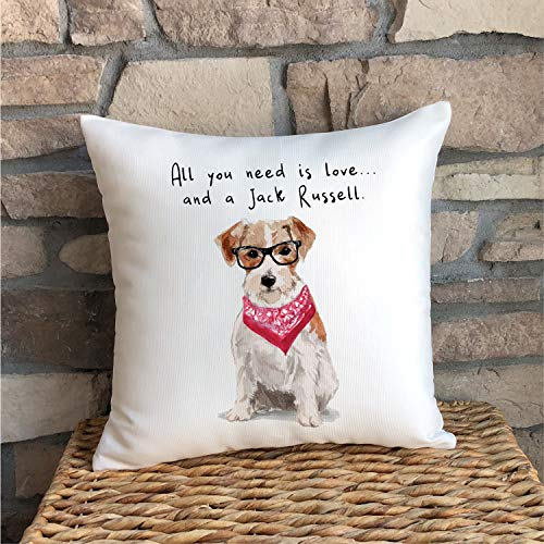 Jack Russell Boy or Girl Jack Russell Terrier Gift for Dog Owner Dog Pillow Jack Russell Mom JRT Jack Russell Lover Dog Lover
