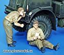 プラスモデル1: 35British Soldiers WWIIシェービング& Resting樹脂図キット# 158の商品画像