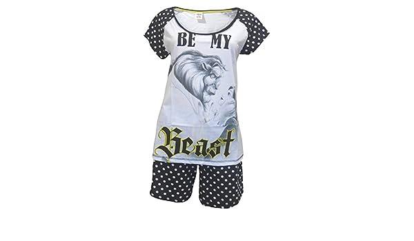 Disney Beauty & the Beast Mujeres Shortie Pijamas: Amazon.es: Ropa y accesorios