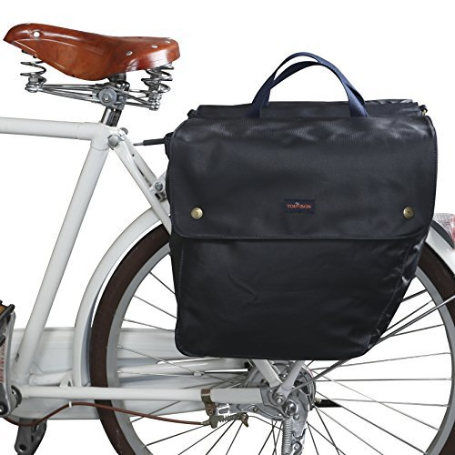 Tourbon Canvas Cycling Bicycle Bike Pannier Rear Seat Bag Rack Trunk ( Waterproof , Roll Up )