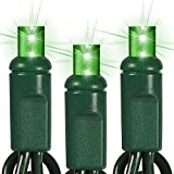 24 ft. Stringer - (70) Wide Angle LEDs - 4 in. Spacing - GREEN - Omni-Directional - Commercial Duty - Green Wire - 40 Set Connection