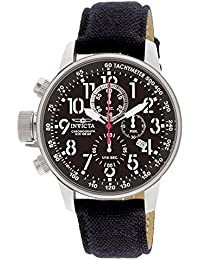 Men's 1512 I Force Stainless Steel Watch with Cloth and Leather Strap, Black