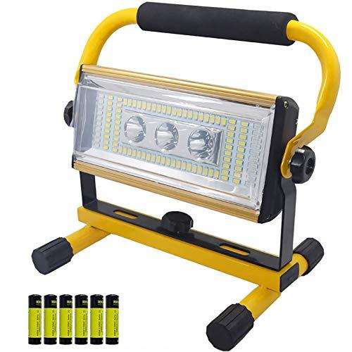 WOERD Baustrahler LED Akku, 100W Arbeitsleuchte Baustellenlampe, Strahler Tragbar Arbeitsscheinwerfer IP65 Wasserdicht…