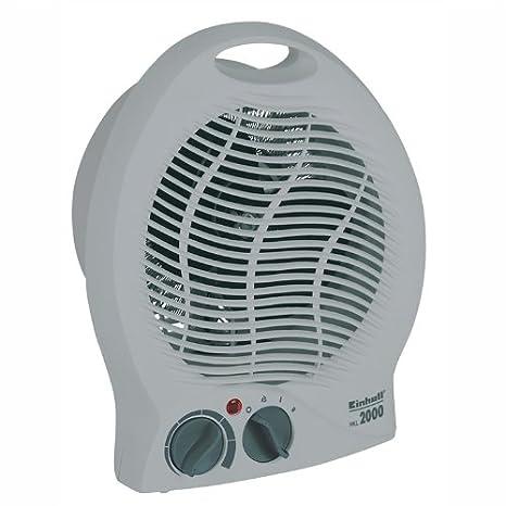 Einhell Heizlüfter HKL 2000 (2.000 W max. Heizleistung, Thermostatregler, 2 Heizstufen, autom. Abschaltung bei Umkippen, Tragegriff)