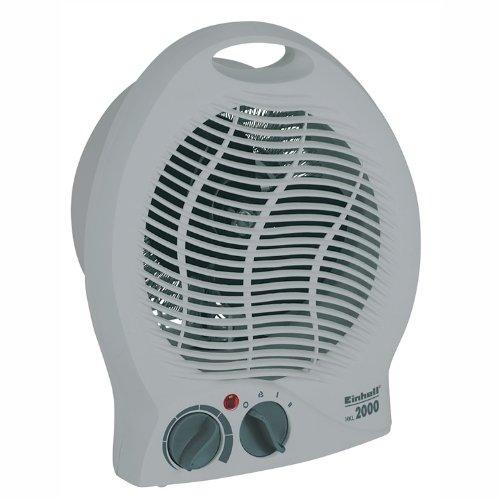 Einhell Heizlüfter HKL 2000 (2000 Watt, 2 Heizstufen, Ventilatorbetrieb, stufenloser Thermostatregler, Tragegriff)