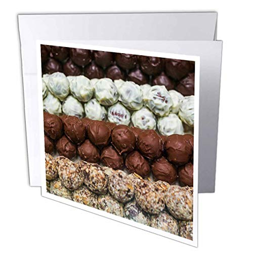 (3dRose Danita Delimont - Candy - Belgium, Bruges. Belgian Chocolates. - 12 Greeting Cards with envelopes (gc_313067_2))