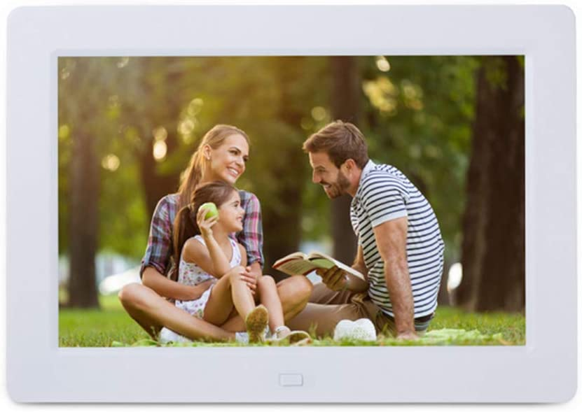 Digital Picture Frame 10 Inch Digital Photo Frame Electronics Picture Frame 1280800 IPS Screen Music Stereo //MP3//Calendar//Clock//Time//Remote Control,White
