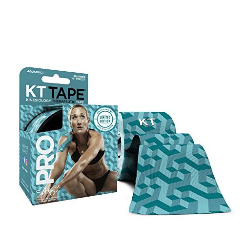 Kt Tape Pro Elastic Kinesiology Therapeutic Tape  20 Precut 10 Inch Strips  Aquaduct