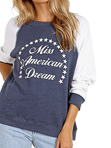 WILDFOX Miss American Dream Summer Sweater Midnight by Wildfox